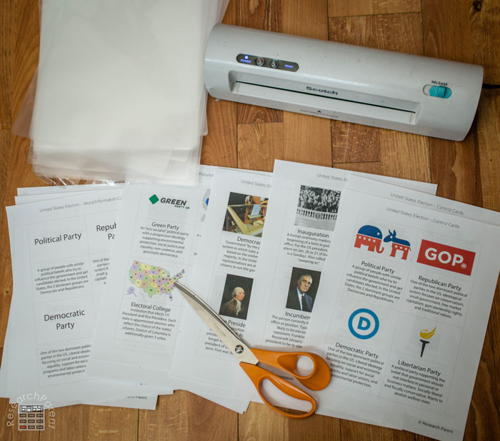 US Presidential Election Card Supplies