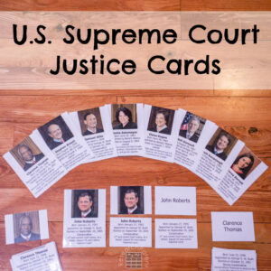 United States Supreme Court Justice Cards