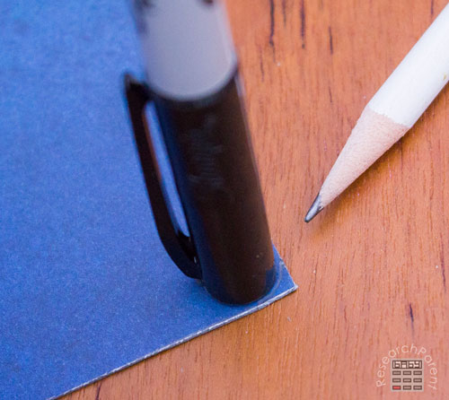 Trace rounded corners with pen cap