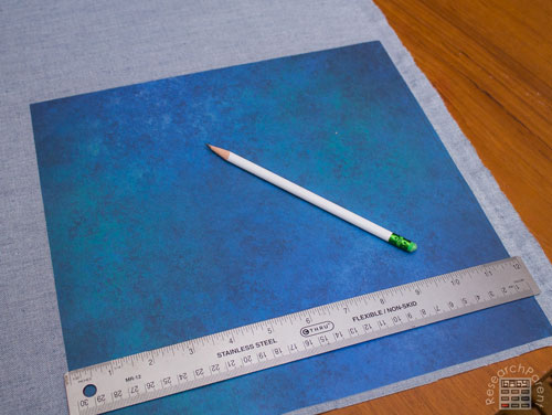 Use a ruler to mark size of cover