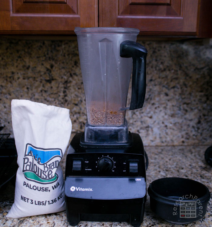 Use blender to grind more wheat berries