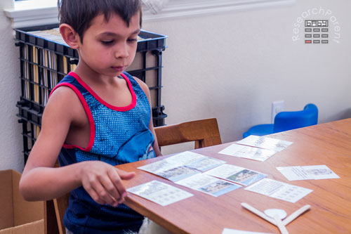 Using Montessori Cards