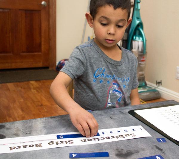 Using Subtraction Strip Board