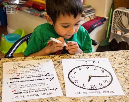 Using What Time is it Clock and Checklist