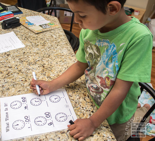 Using the What Time Is It Worksheet