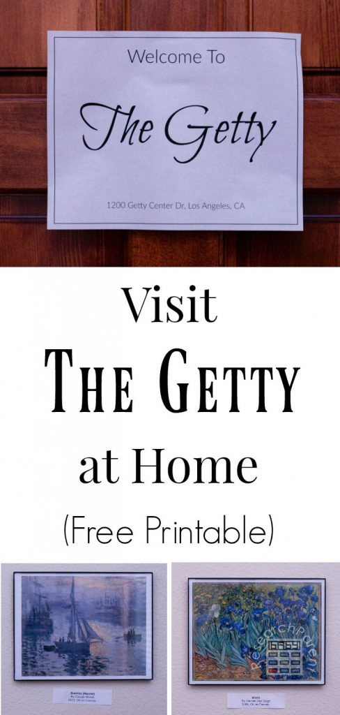 Visit the Getty Museum at Home Free Printable