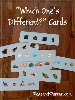 Which One's Different Cards by ResearchParent.com