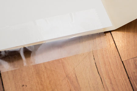 Attach cardstock to file folder