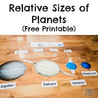 planets relative size food - photo #15