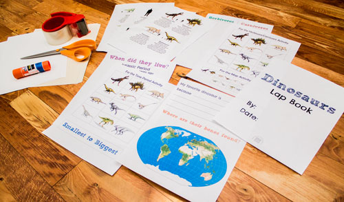 Dinosaurs Lap Book Supplies