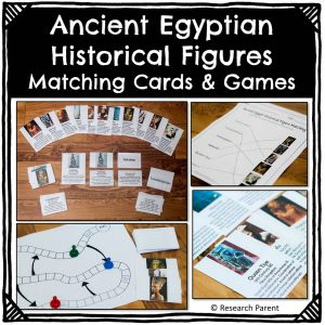 Ancient Egyptian Historical Figure Matching Cards and Games [Product]