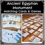 Ancient Egyptian Monumnet Matching Cards and Games