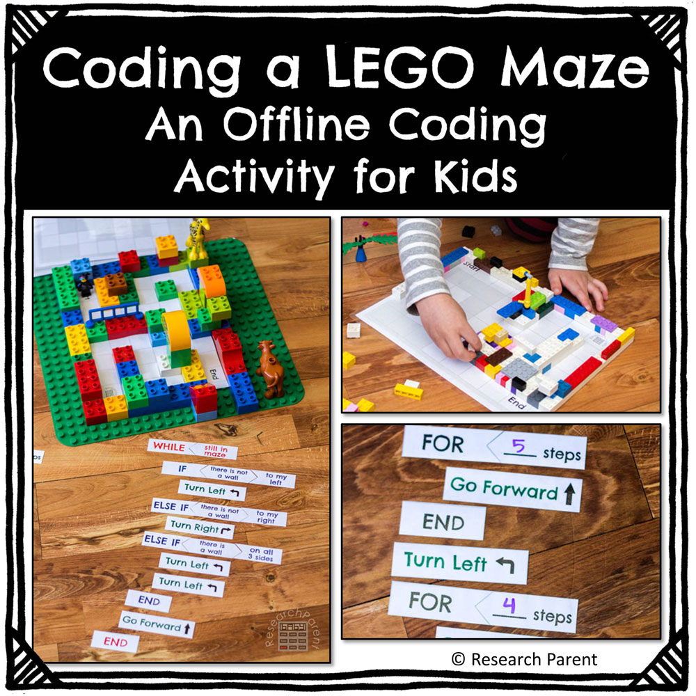 Coding a Lego Maze Activity