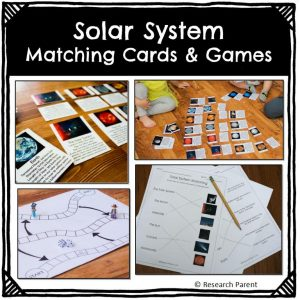 Solar System Matching Cards and Games
