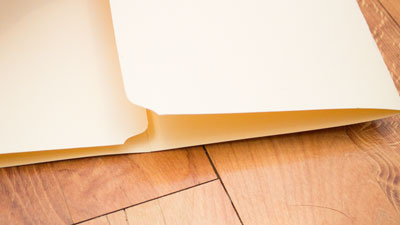 Fold folder into center