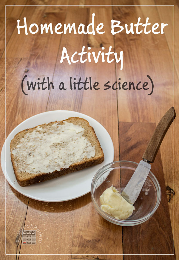 Homemade Butter Activity by ResearchParent.com