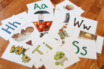 Homemade Letter Cards - random pile