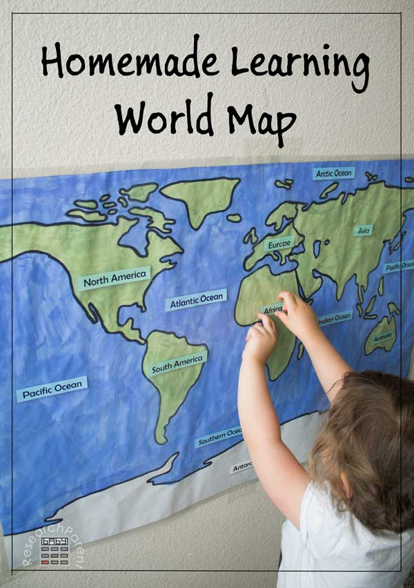 Homemade Learning World Map by ResearchParent.com