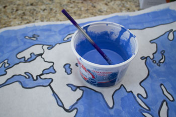 Paint the world map