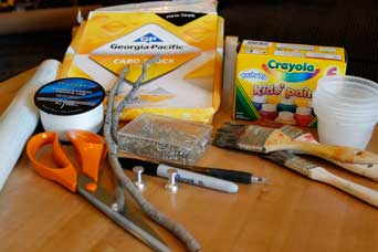 Supplies and Materials for Homemade Fishing Game
